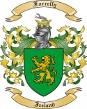 Farrelly Family Crest from Ireland