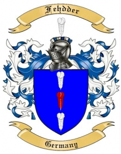 Fehdder Family Crest from Germany