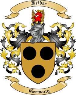Felder Family Crest from Germany