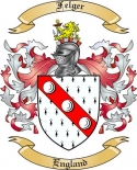 Felger Family Coat of Arms from England