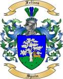 Felices Family Crest from Spain