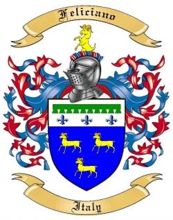 Feliciano Family Crest from Italy