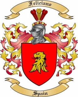Feliciano Family Crest from Spain