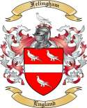 Felingham Family Coat of Arms from England
