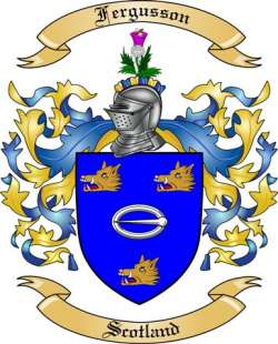 Fergusson Family Crest from Scotland