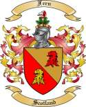 Fern Family Coat of Arms from Scotland