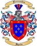 Fernandez Family Coat of Arms from Spain