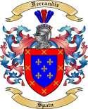 Ferrandiz Family Crest from Spain