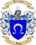 Ferrante Family Coat of Arms from Italy
