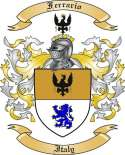 Ferrario Family Coat of Arms from Italy