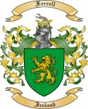 Ferrell Family Coat of Arms from Ireland