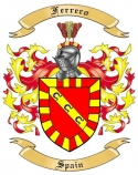 Ferrero Family Crest from Spain