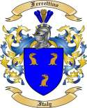 Ferrettino Family Crest from Italy2