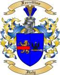 Ferrettino Family Crest from Italy