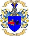 Ferrettino Family Crest from Italy
