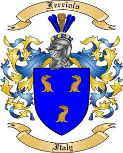 Ferriolo Family Coat of Arms from Italy2