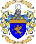 Ferron Family Coat of Arms from Scotland