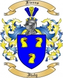 Fierro Family Coat of Arms from Italy