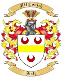 Filipovich Family Crest from Italy