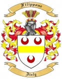 Filippone Family Coat of Arms from Italy