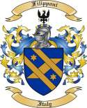 Filipponi Family Crest from Italy2