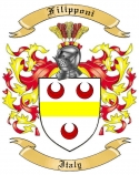 Filipponi Family Coat of Arms from Italy
