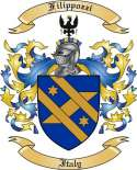 Filippozzi Family Coat of Arms from Italy2