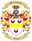 Filippucci Family Crest from Italy