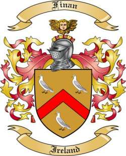 Finan Family Coat of Arms from Ireland