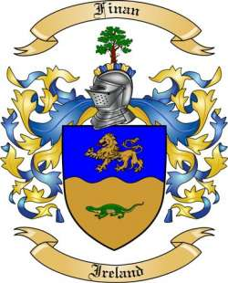 Finan Family Crest from Ireland2