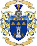 Finns Family Coat of Arms from France