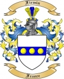 Firmin Family Coat of Arms from France