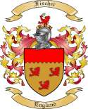 Fischer Family Coat of Arms from England