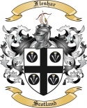 Fleshar Family Coat of Arms from Scotland