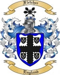 Fletcher Family Crest from England