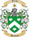 Flindt Family Coat of Arms from Scotland