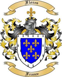 Flores Family Crest from France