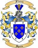 Flores Family Crest from Spain