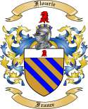 Flourie Family Crest from France