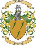 Follett Family Coat of Arms from England