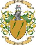 Folliard Family Crest from England