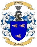 Forbes Family Crest from Ireland