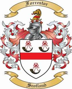 Forrestor Family Crest from Scotland