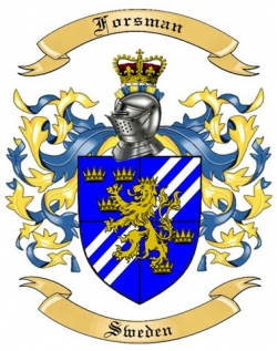 Forsman Family Crest from Sweden by The Tree Maker