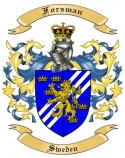 Forsman Family Crest from Sweden