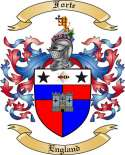 Forte Family Crest from England