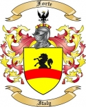 Forte Family Coat of Arms from Italy