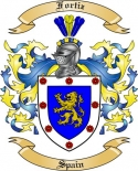 Fortiz Family Crest from Spain2
