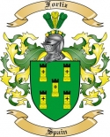 Fortiz Family Crest from Spain