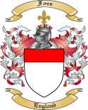 Foss Family Crest from England